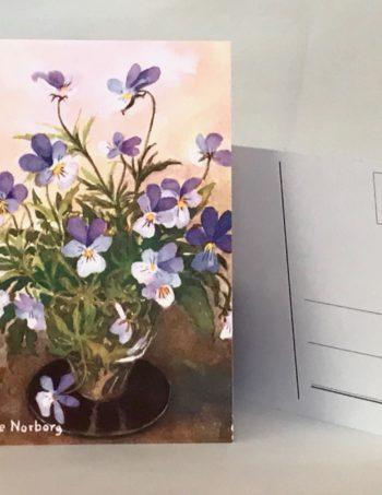 Blomsterkort enkla